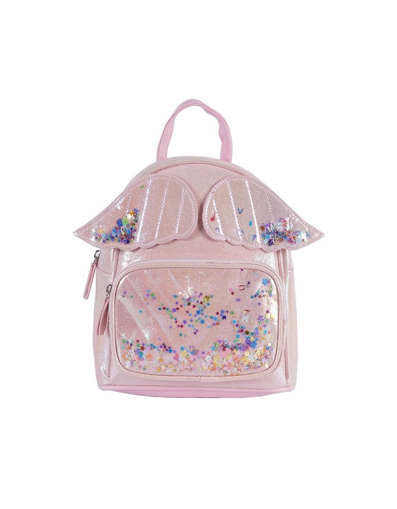 [ 98086-1 ] GTS MODA Angel Wings Backpack - Ροζ - Τεχνόδερμα