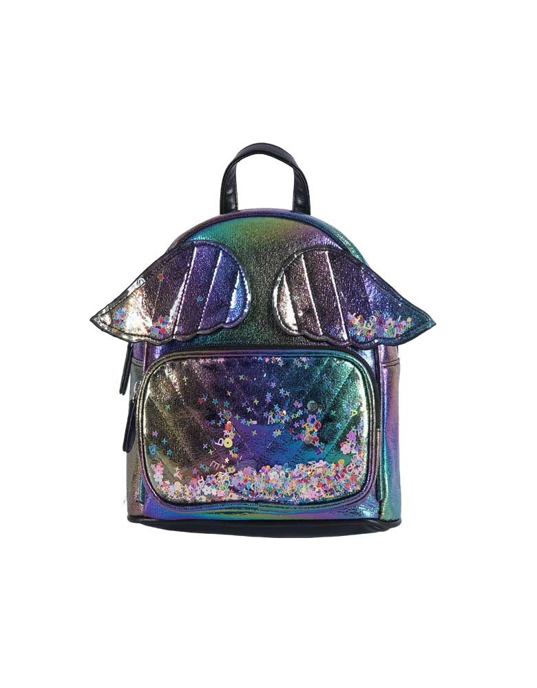 [ 98086-2 ] GTS MODA Angel Wings Backpack - Rainbow - Τεχνόδερμα