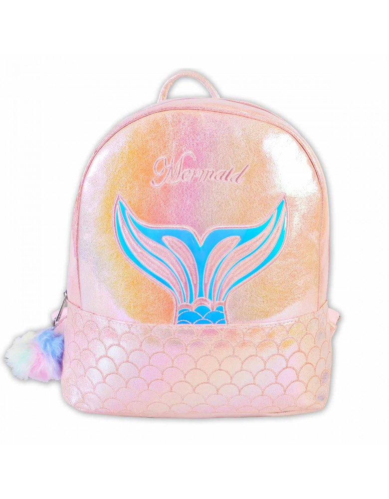 [ BB129-1 ] GTS MODA Pink Mermaid Backpack - Τεχνόδερμα