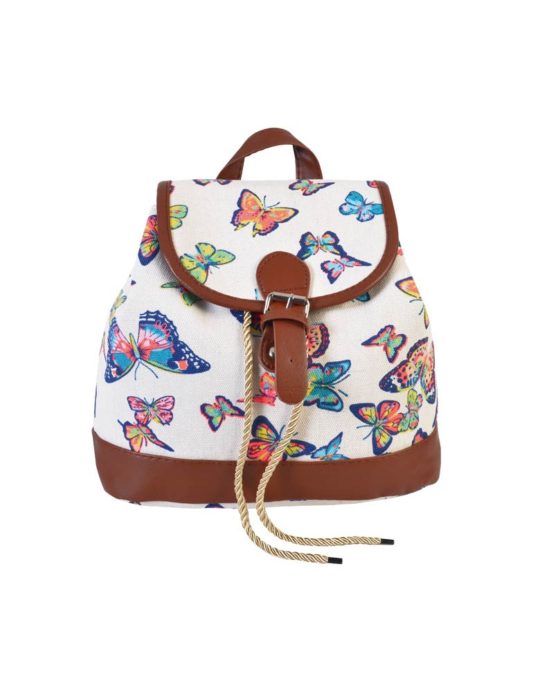 [ BB814S-1 ] GTS MODA Butterfly Backpack - Μπεζ - Ύφασμα