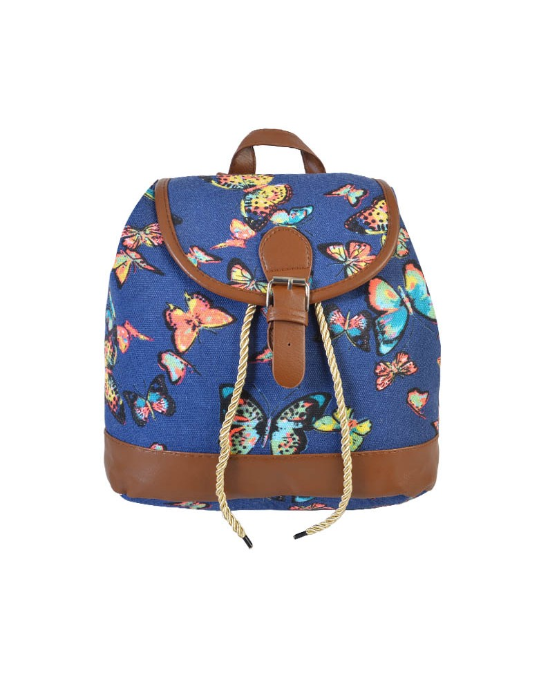 [ BB814S-2 ] GTS MODA Butterfly Backpack - Μπλε - Ύφασμα