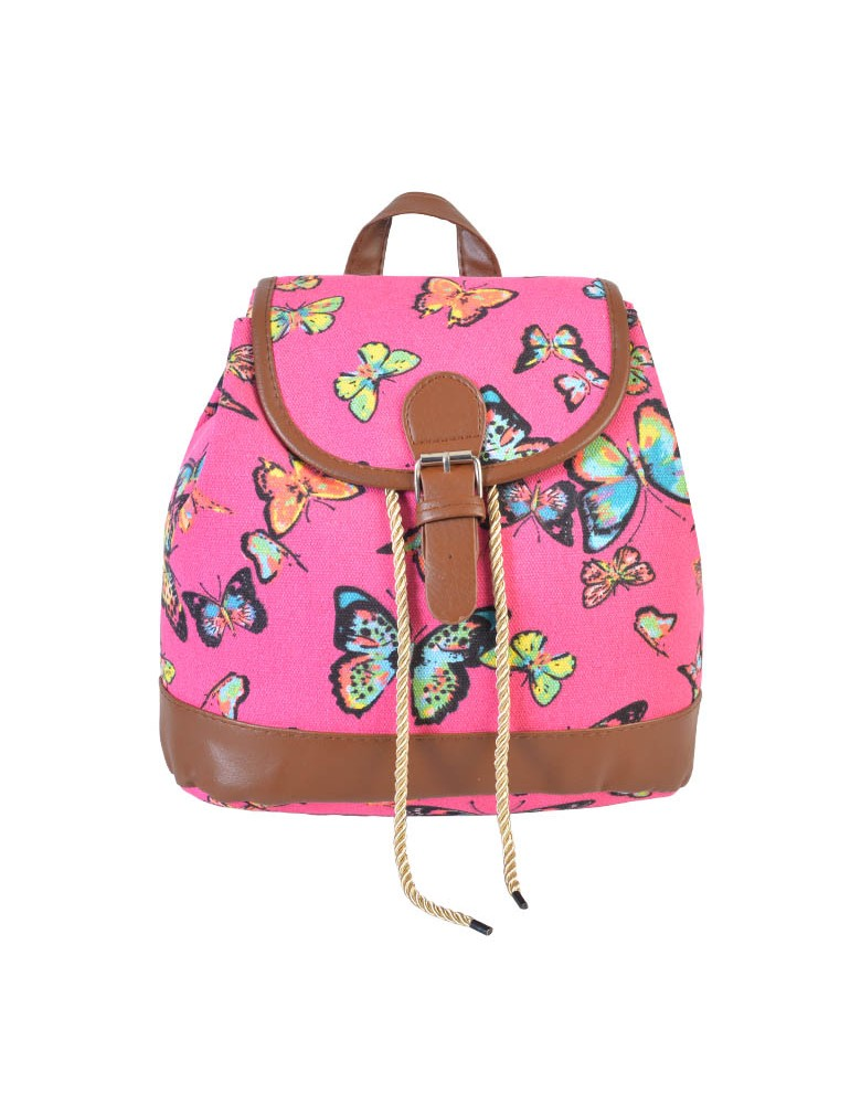 [ BB814S-3 ] GTS MODA Butterfly Backpack - Φούξια - Ύφασμα