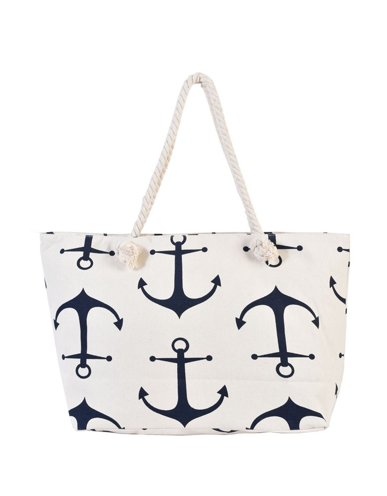 [ BB88-1 ] GTS MODA Anchor Beach Bag Μπεζ Ύφασμα