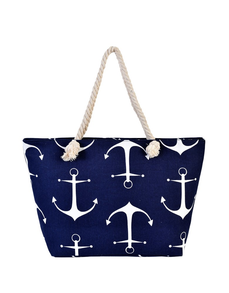 [ BB88-2 ] GTS MODA Anchor Beach Bag Μπλε Ύφασμα
