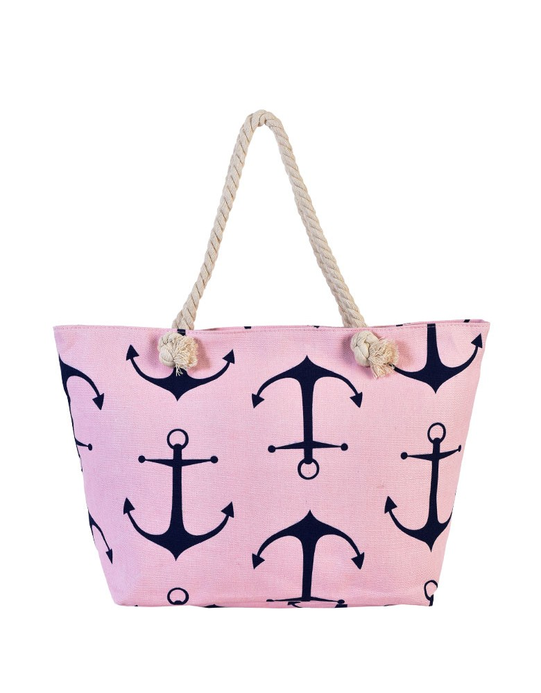 [ BB88-3 ] GTS MODA Anchor Beach Bag Ροζ Ύφασμα