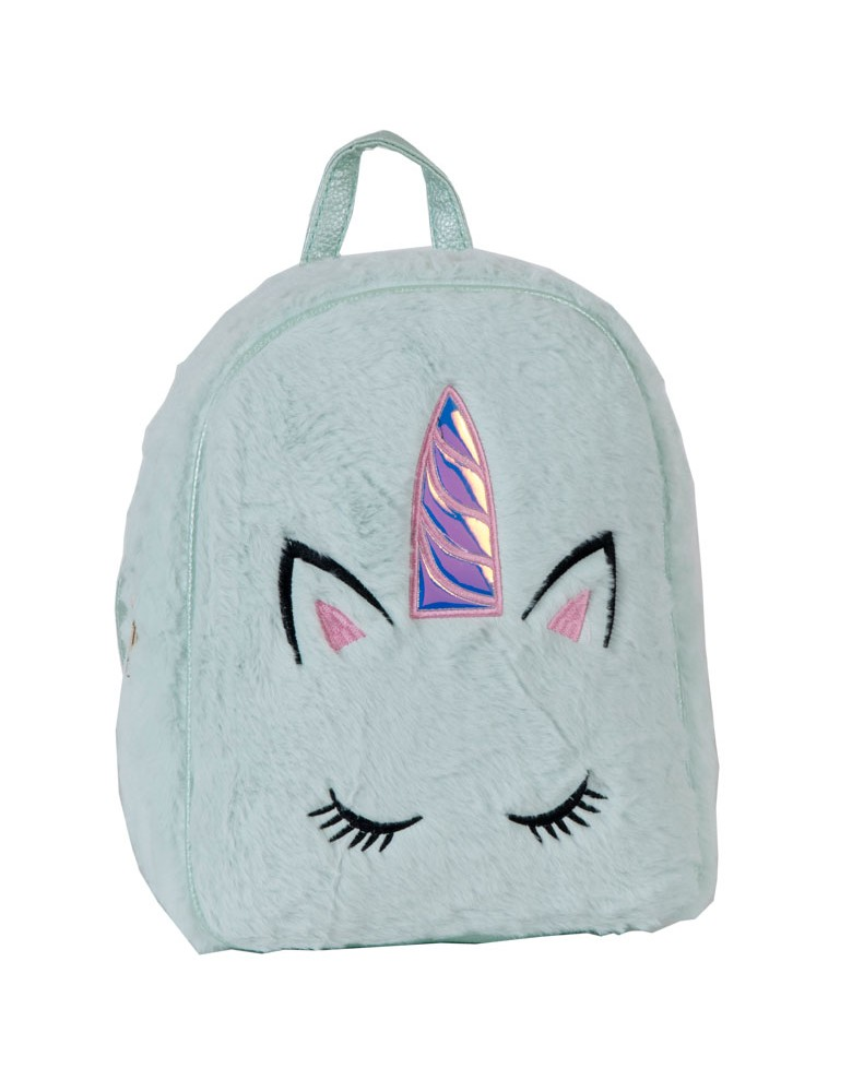 [ BB99-2 ] GTS MODA Unicorn Backpack  - Βεραμάν - Faux Fur