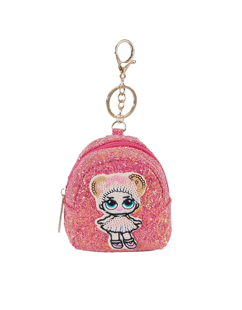 [ BR040-3 ] GTS MODA Pink Lovely Doll Coin Wallet