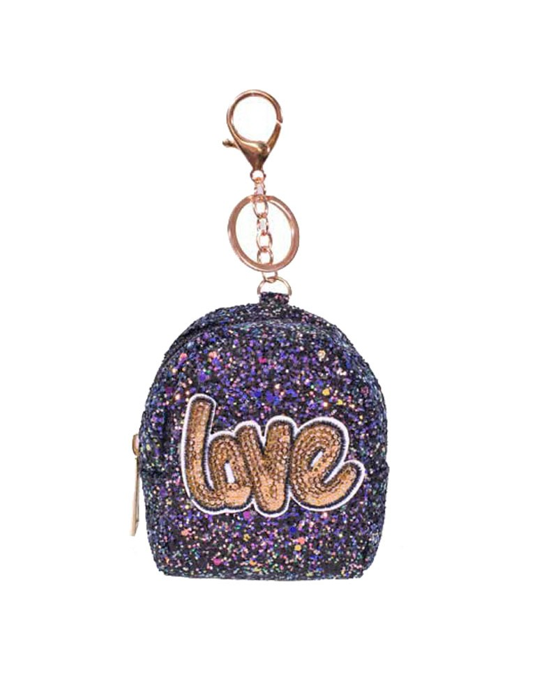 [ BR040-5 ] GTS MODA Purple Love Coin Wallet