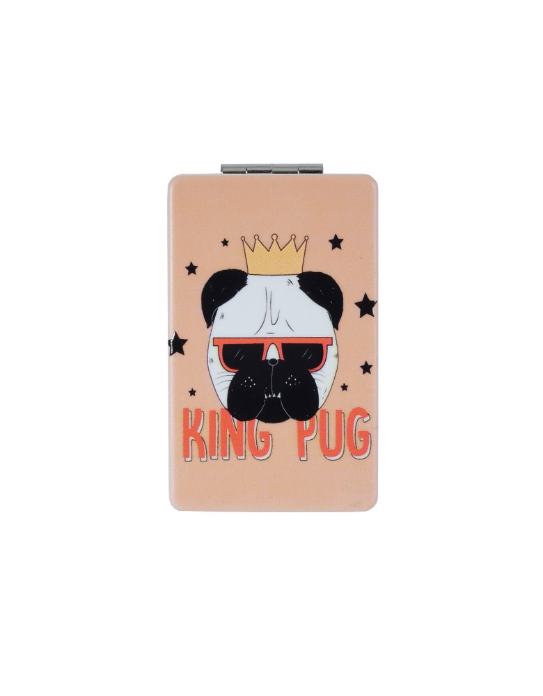 [ MR124-1 ] GTS MODA King Pug Mirror - Πολύχρωμο - PVC
