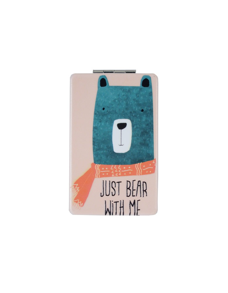 [ MR124-3 ] GTS MODA Just Bear With Me Mirror - Πολύχρωμο - PVC
